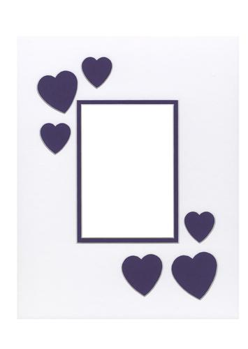 Hearts Purple 11x14