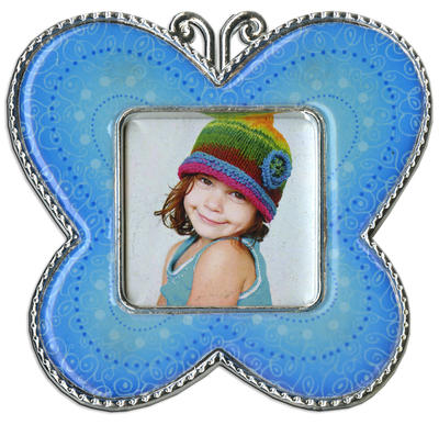 Blue Butterfly Epoxy Magnet