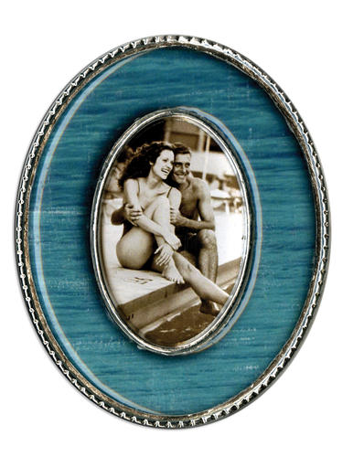 Teal Oval Epoxy Magnet