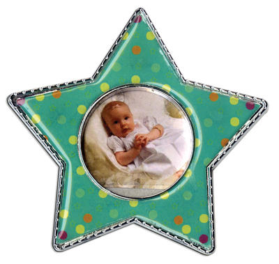 Green Polka Dot Star Epoxy Magnet