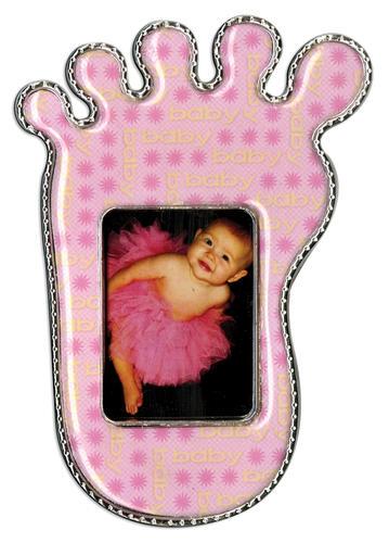 Pink Flower Foot Epoxy Magnet