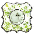 Epoxy Magnet - Green Floral