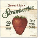 Sweet and Juicy Strawberries-6x6
