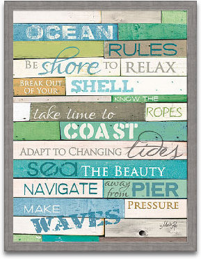 Ocean Rules 18x24 preview