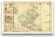 Antique Map Of America I