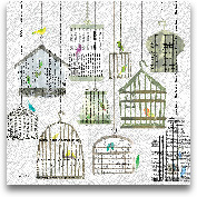Birdcages Collage Sq...<span>Birdcages Collage Square I - 18x18</span>