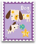 Animal Stamps - Dog 8x10