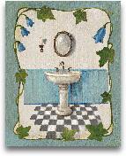 Bell Flower Bath II ...<span>Bell Flower Bath II On Ivory</span>