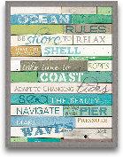 Ocean Rules 18x24