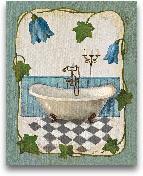 Bell Flower Bath I O...<span>Bell Flower Bath I On Ivory</span>