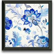 12x12 Blue Floral