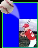 Baseball -  Action Easel