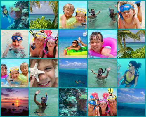 20 Photo Collage Poster - Blue