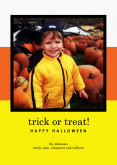 5x7 Card: Trick Or Treat!