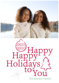 Happy Holidays To You - Red