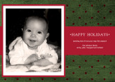 5x7 Card: Happy Holidays