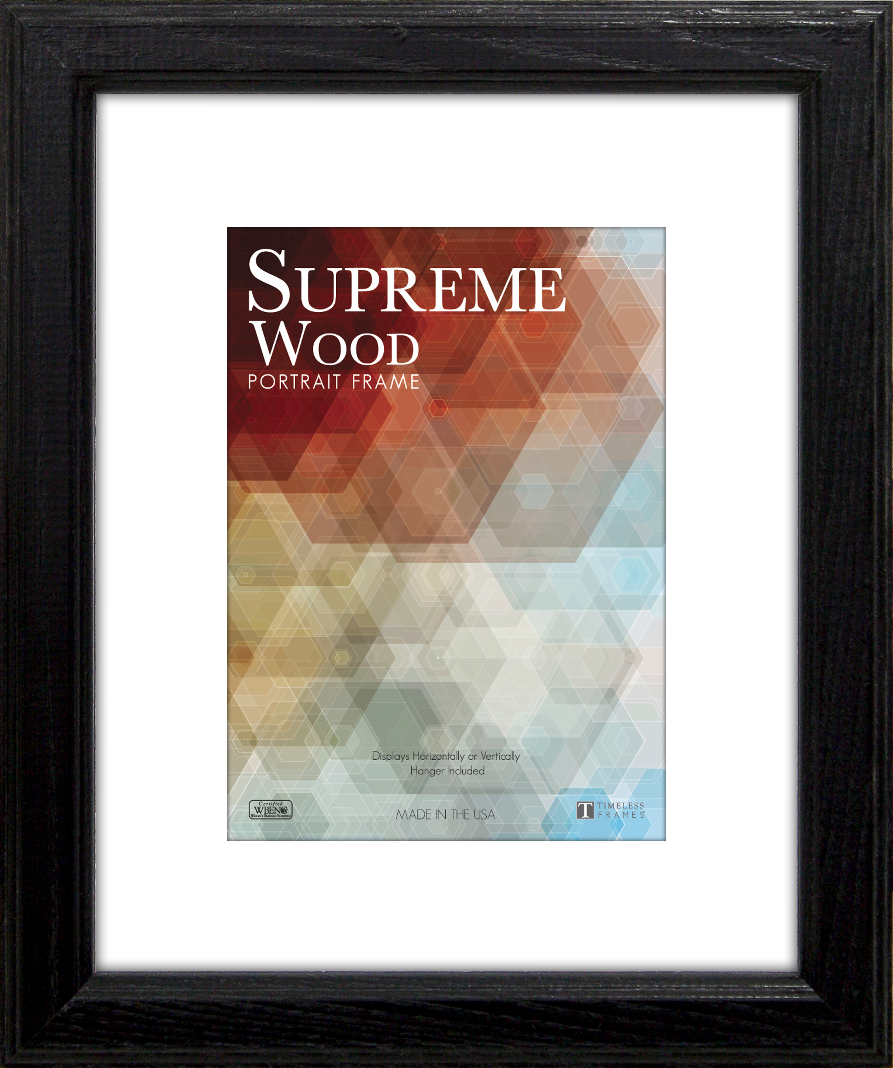 View - Supreme Woods Black 5x7 - Wall | Timeless Frames