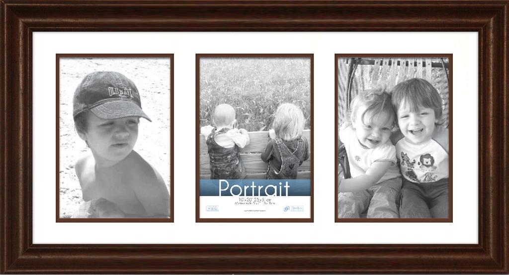View - Lauren Collage - Walnut 10x20 | Timeless Frames