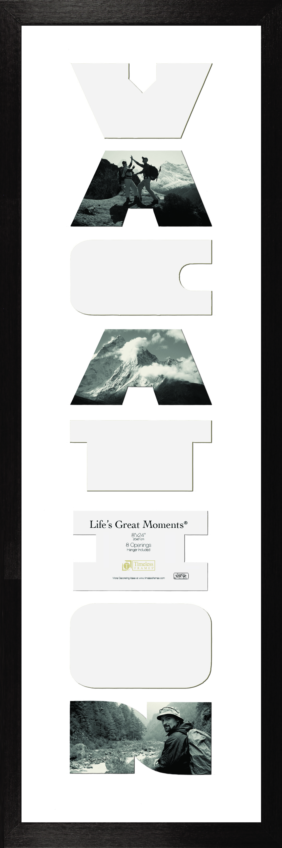 View - Life\'s Great Moments - Vacation - Black 8x24 | Timeless Frames