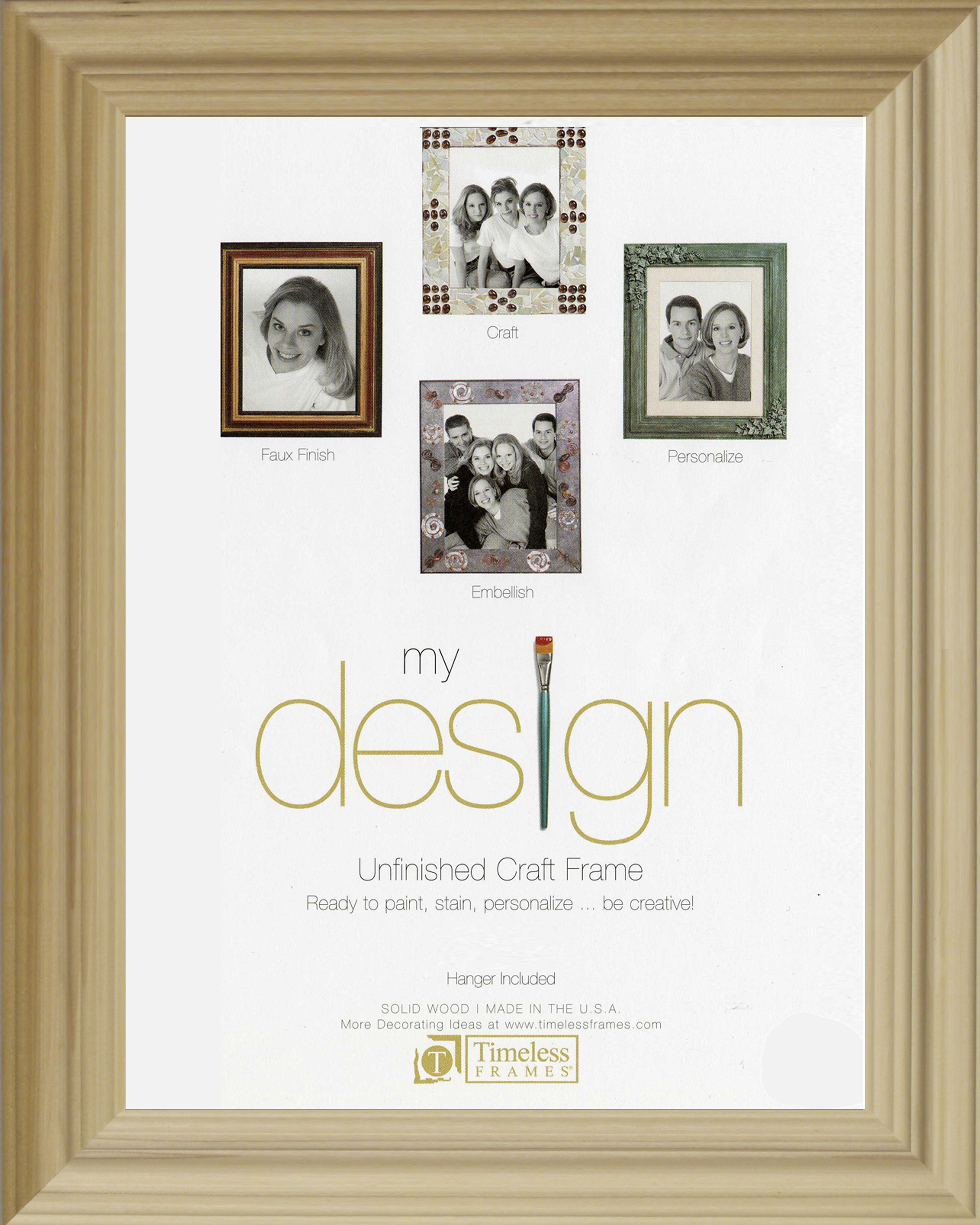 View - Decorative Poplar Unfinished 5x7 - Wall | Timeless Frames