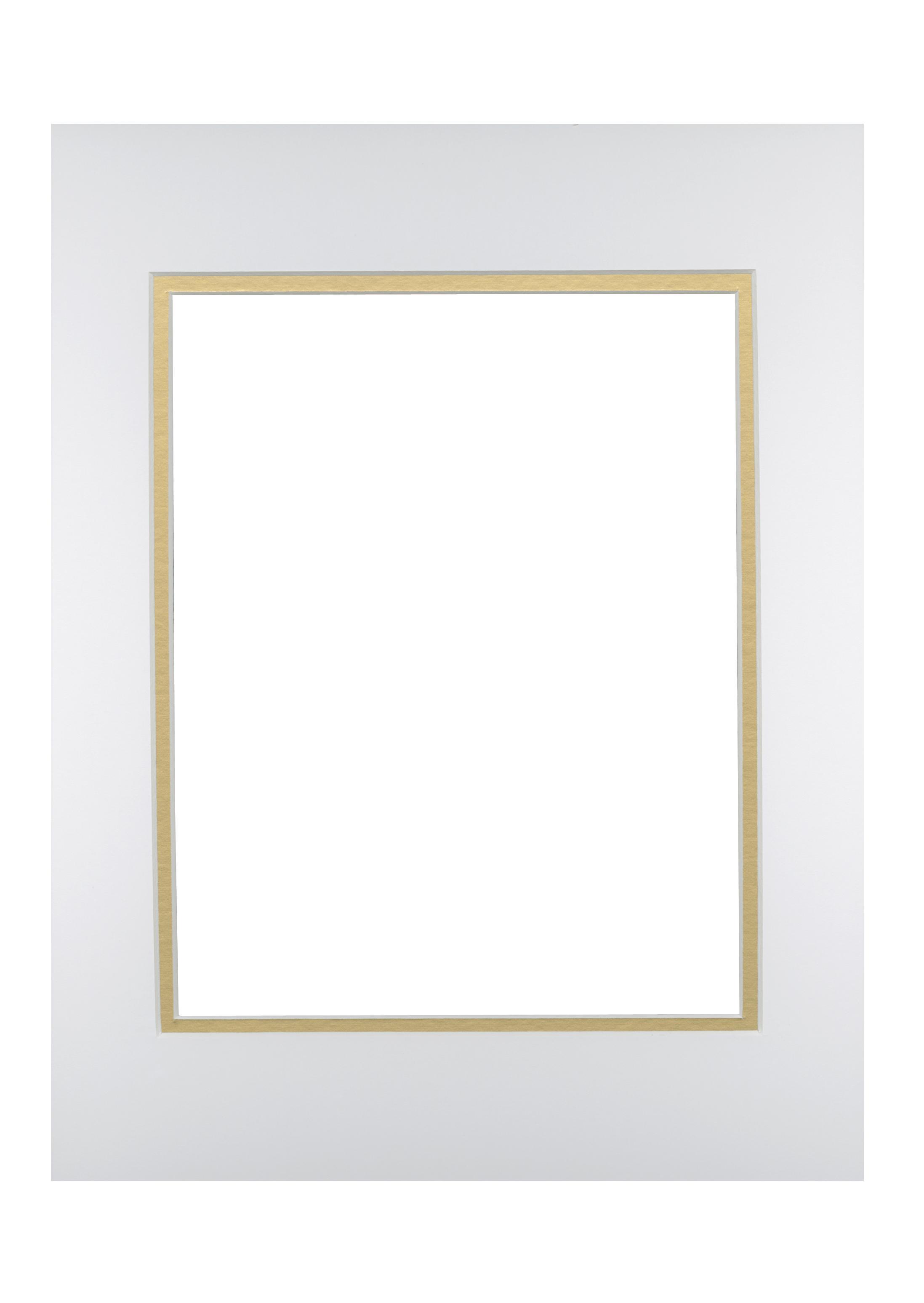 View - White/Gold 11x14 | Timeless Frames