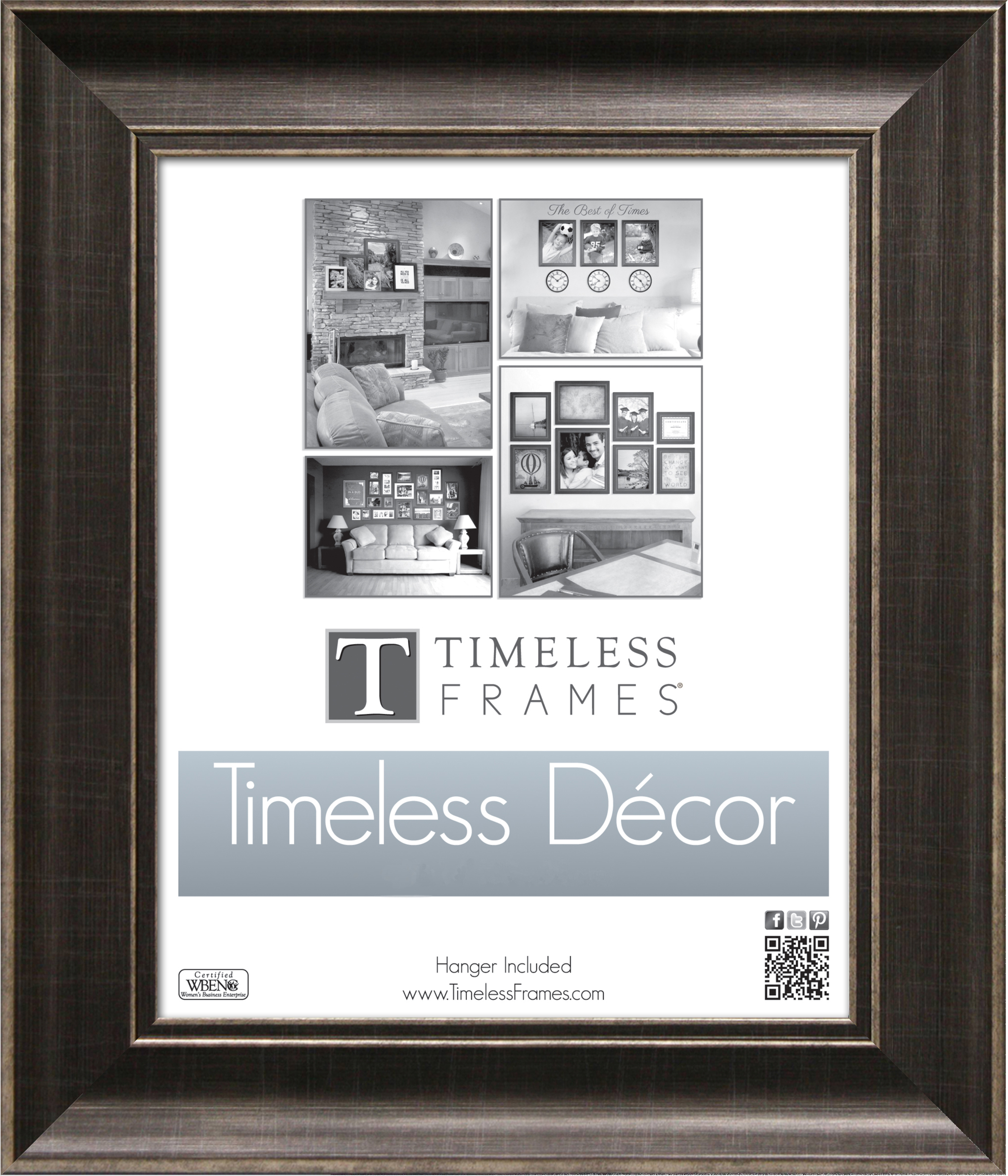 View - Diana Pewter 8x10 - Wall | Timeless Frames