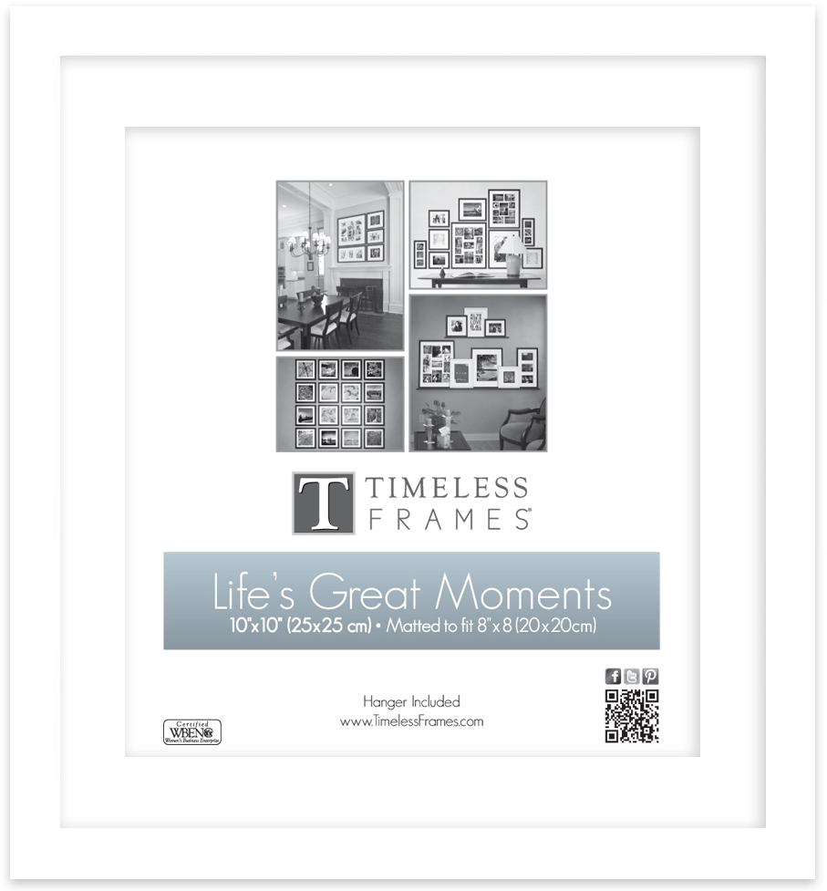 View - Life\'s Great Moments 10x10 (8x8) - White | Timeless Frames